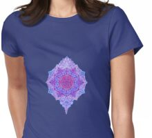 happy flower charm blue Womens Fitted T-Shirt
