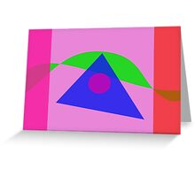 The Simplest Geometric Abstract Art Greeting Card