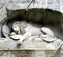 Lion of Lucerne by Lynnrmorris
