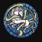 The Unicorn Window, (On Black) by circuitdruid
