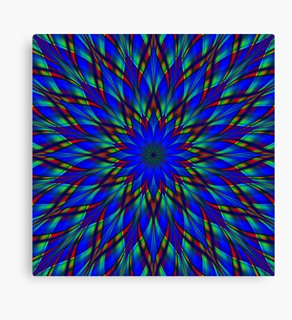 Stained glass flower mandala Canvas Print