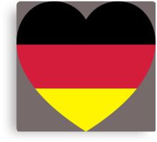 German Heart Canvas Print
