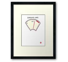 Chocolate level Framed Print