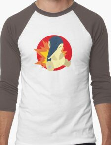 Cyndaquil - 2nd Gen Men's Baseball ¾ T-Shirt