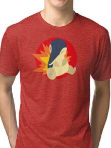 Cyndaquil - 2nd Gen Tri-blend T-Shirt
