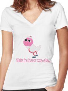 Icecream Twerk  Women's Fitted V-Neck T-Shirt