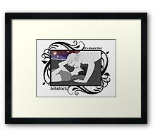 Johnlock - It's always you! Framed Print