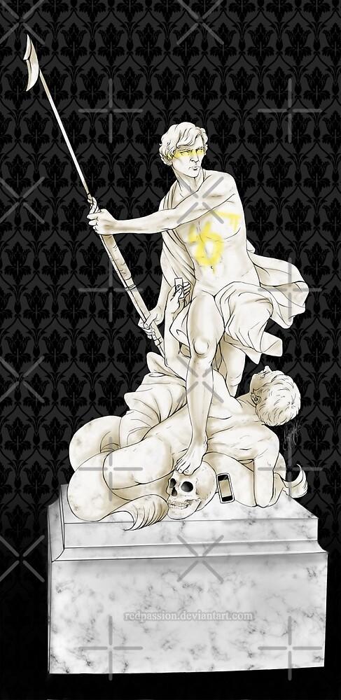 Sherlock+John - Statue of heavenliness by Clarice82