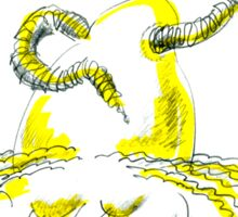 Worm For Brains Sticker