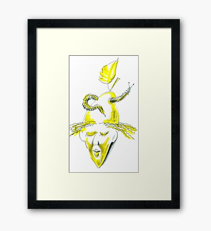 Worm For Brains Framed Print