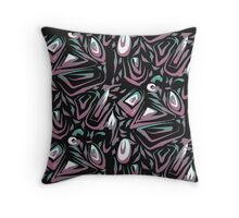 Weird faces Throw Pillow