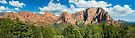 Kolob Summits Panorama by Kenneth Keifer