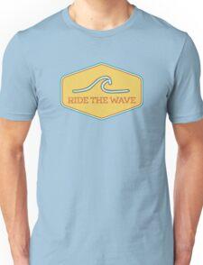 Ride the Wave - Vintage Surf Sticker Unisex T-Shirt