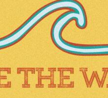 Ride the Wave - Vintage Surf Sticker Sticker