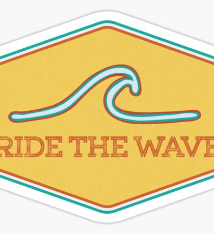 Ride the Wave - Vintage Surf Sticker Sticker