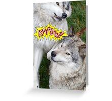 Wolves at play Greeting Card