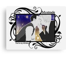 Mystrade - You're my division! Canvas Print