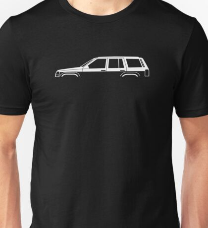 Vehicle silhouette for Jeep Grand Cherokee ZJ enthusiasts Unisex T-Shirt