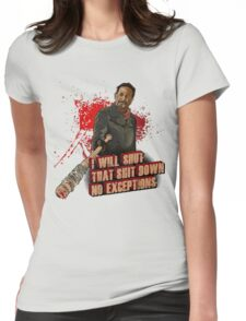 Negan Walking Dead Womens Fitted T-Shirt