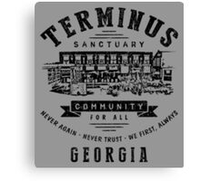 Terminus Sanctuary Community (dark) Canvas Print