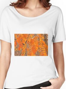 Mountain Ash Leaves in Autumn Women's Relaxed Fit T-Shirt
