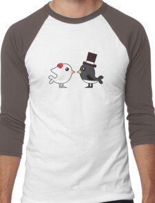 Cute couple wedding birds Men's Baseball ¾ T-Shirt