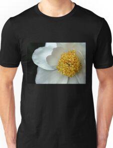 Krinkled White Peony Unisex T-Shirt
