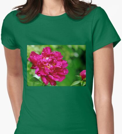 Dazzling Peony Womens Fitted T-Shirt