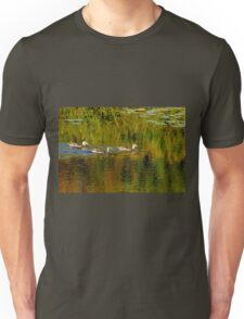 Autumn Feathers And Rippled Reflections Unisex T-Shirt