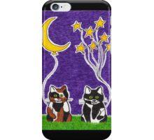 Hang the Moon - Whimsical Animal Cat Art iPhone Case/Skin