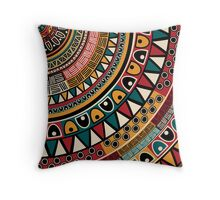 Tribal ethnic background Throw Pillow