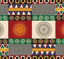 Seamless mayan, aztec pattern by Richard Laschon