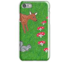 The Fauna and the Fairy Ring - Whimsical Animal Art iPhone Case/Skin