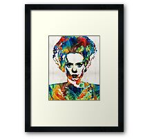Frankenstein Bride Art - Colorful Monster Bride - By Sharon Cummings Framed Print