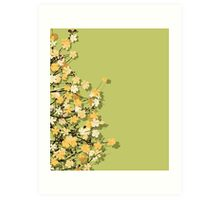 Spring time theme postcard Art Print