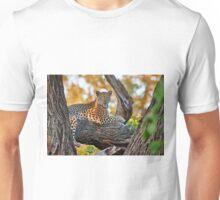 female Leopard lying on a tree Unisex T-Shirt