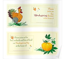 Thanksgiving Day invitations Poster