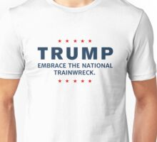 Ant-Trump National Trainwreck Stars Border Unisex T-Shirt