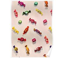 Sweet Candy Painted Pattern Poster