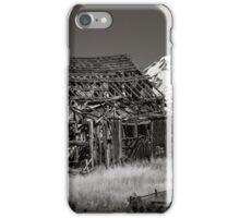 Skeletal barn and Mt Adams iPhone Case/Skin