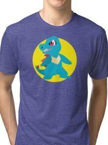 Totodile - 2nd Gen Tri-blend T-Shirt