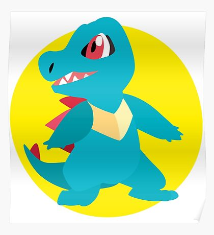 Totodile - 2nd Gen Poster