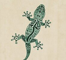 Ornate Lizard by barruf