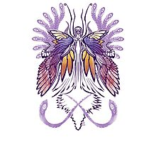 Mab the Queen of Fey (purple) Photographic Print