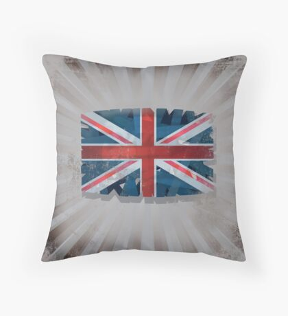 Illustration of UK Flag Throw Pillow
