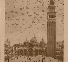 Vintage church of saint Marco and tower bell,Venice,Italy by Logan81