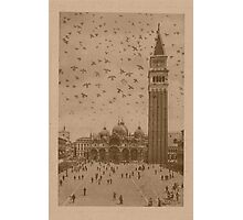 Vintage church of saint Marco and tower bell,Venice,Italy Photographic Print