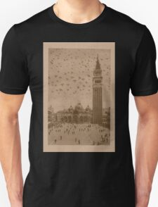 Vintage church of saint Marco and tower bell,Venice,Italy T-Shirt