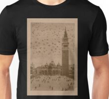 Vintage church of saint Marco and tower bell,Venice,Italy Unisex T-Shirt