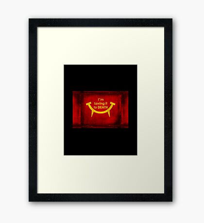 Fast food for Zombies Framed Print